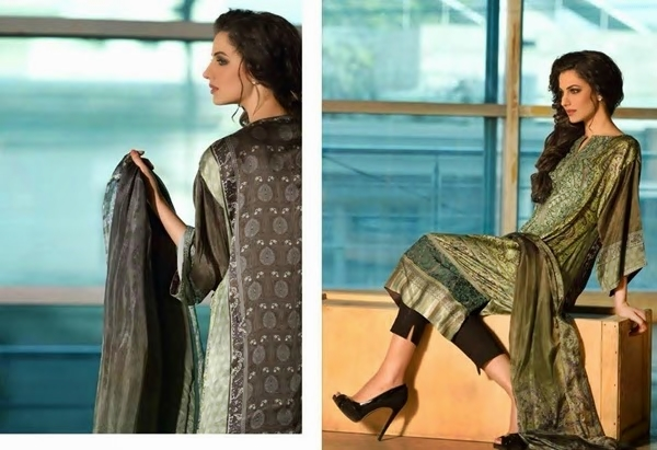 Sobia Nazir amazing Party Wear Silk Dress Collection 2017