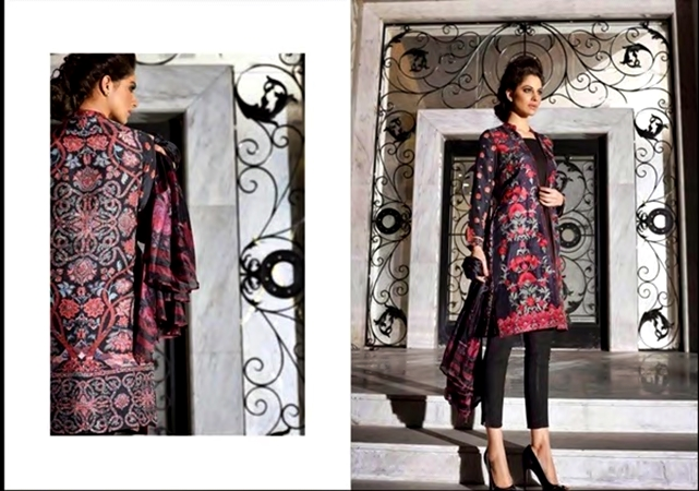 Sobia Nazir Elegant Party Wear Silk Dress Collection 2017