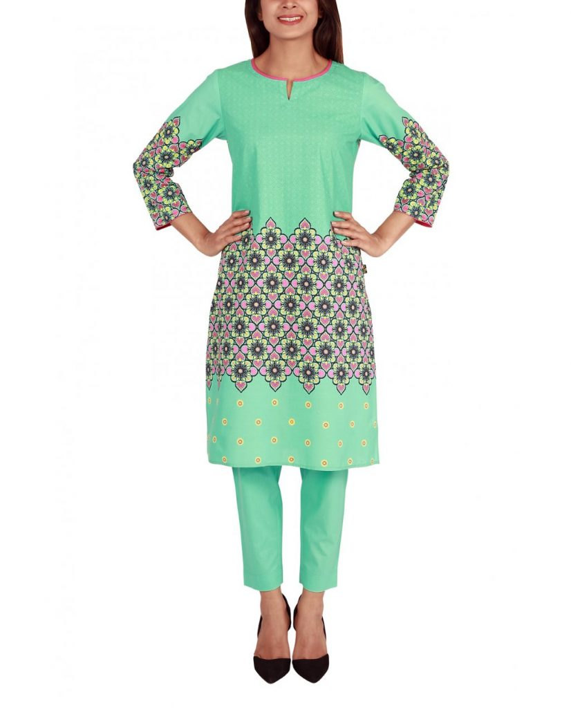 Sea Green Elegant dress by ego for winter