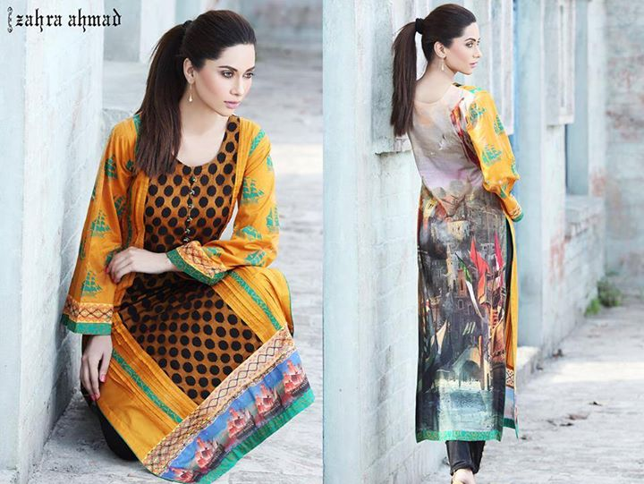 Long Length shirt by zahra ahmad for winter