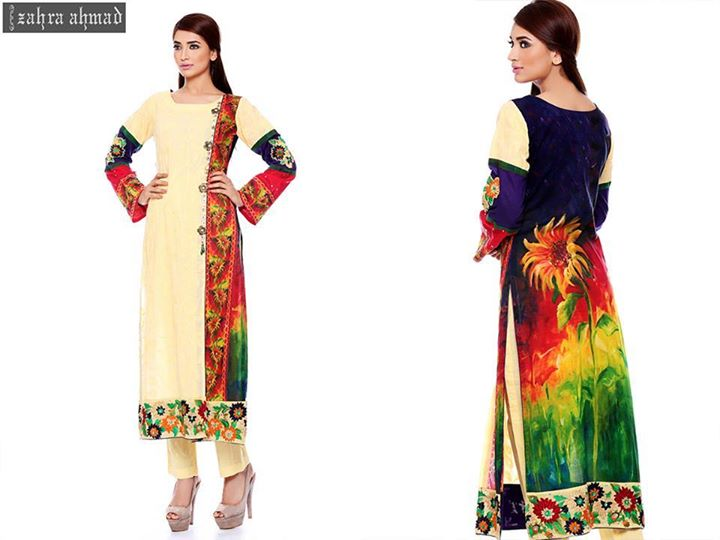 colorful dress by zahra ahmad for fall
