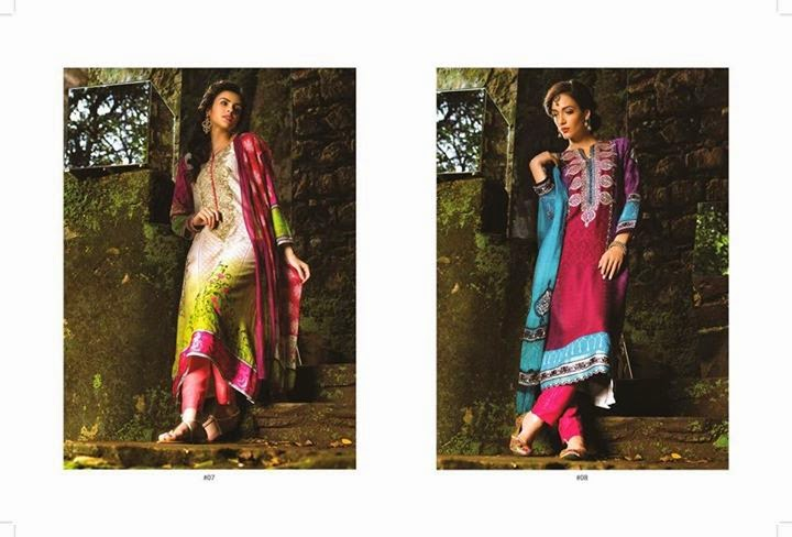 Long A line shirts by maria b indian pashmina collection