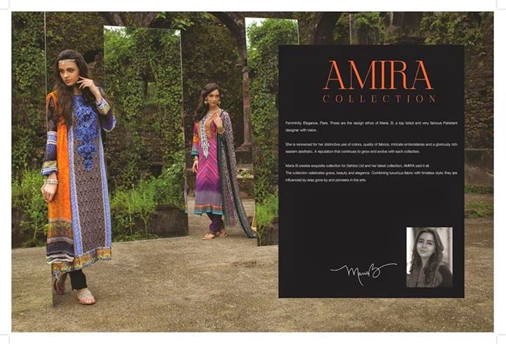 Symmetrical designed dresses for fall by maria b indian pashmina collection