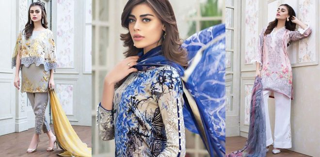 Zainab Chottani Latest Winter Silk Collection 2019 Party Dresses