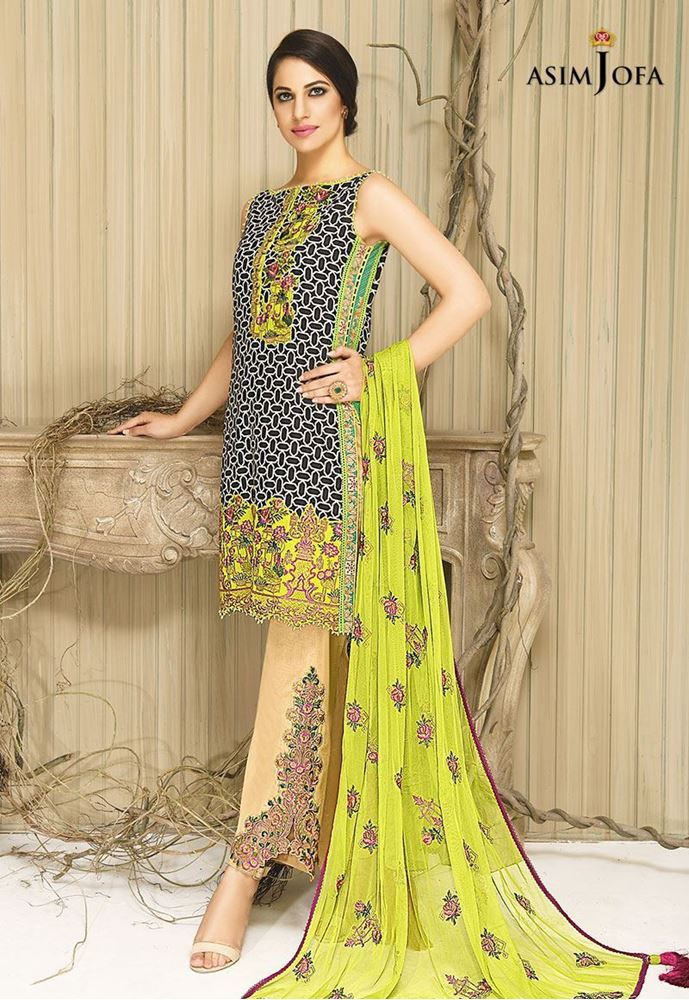 Bright yellow dress by asim jofa for fall
