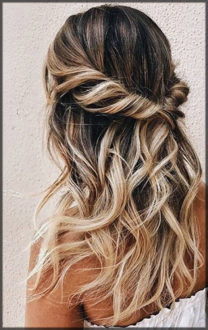 beautiful twist hairstyle for fall winter season for women