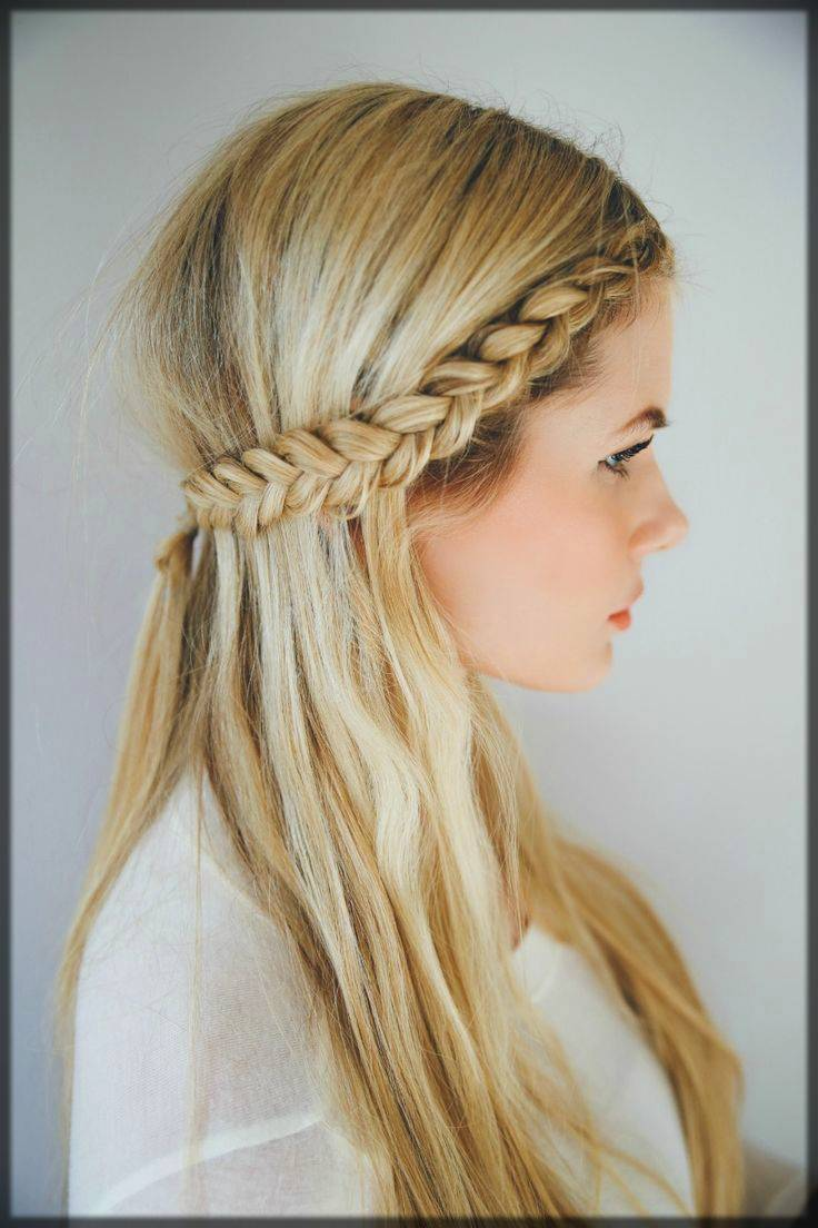 half braid style for winter season for women