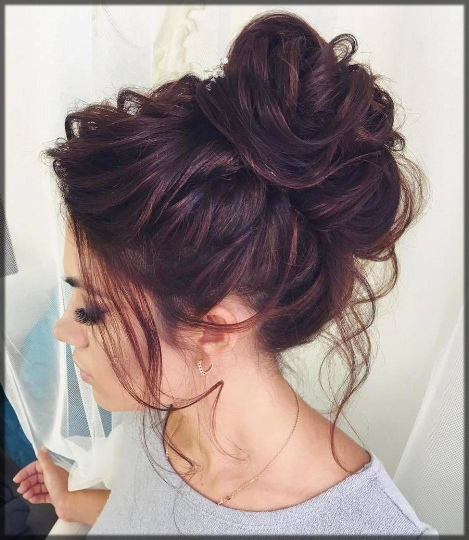messy bun for parties