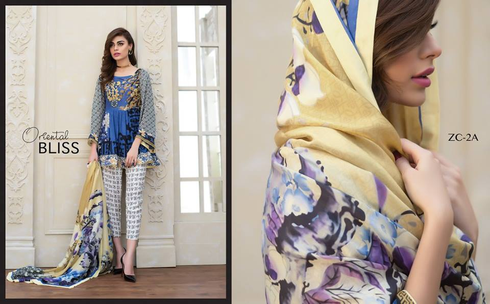 Embroidered silk dress by zainab chottani for winter parties