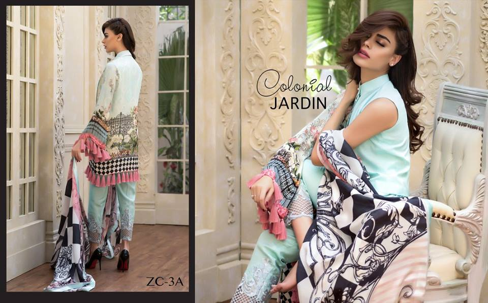 Blue Colonial jarden by zainab chottani for fall
