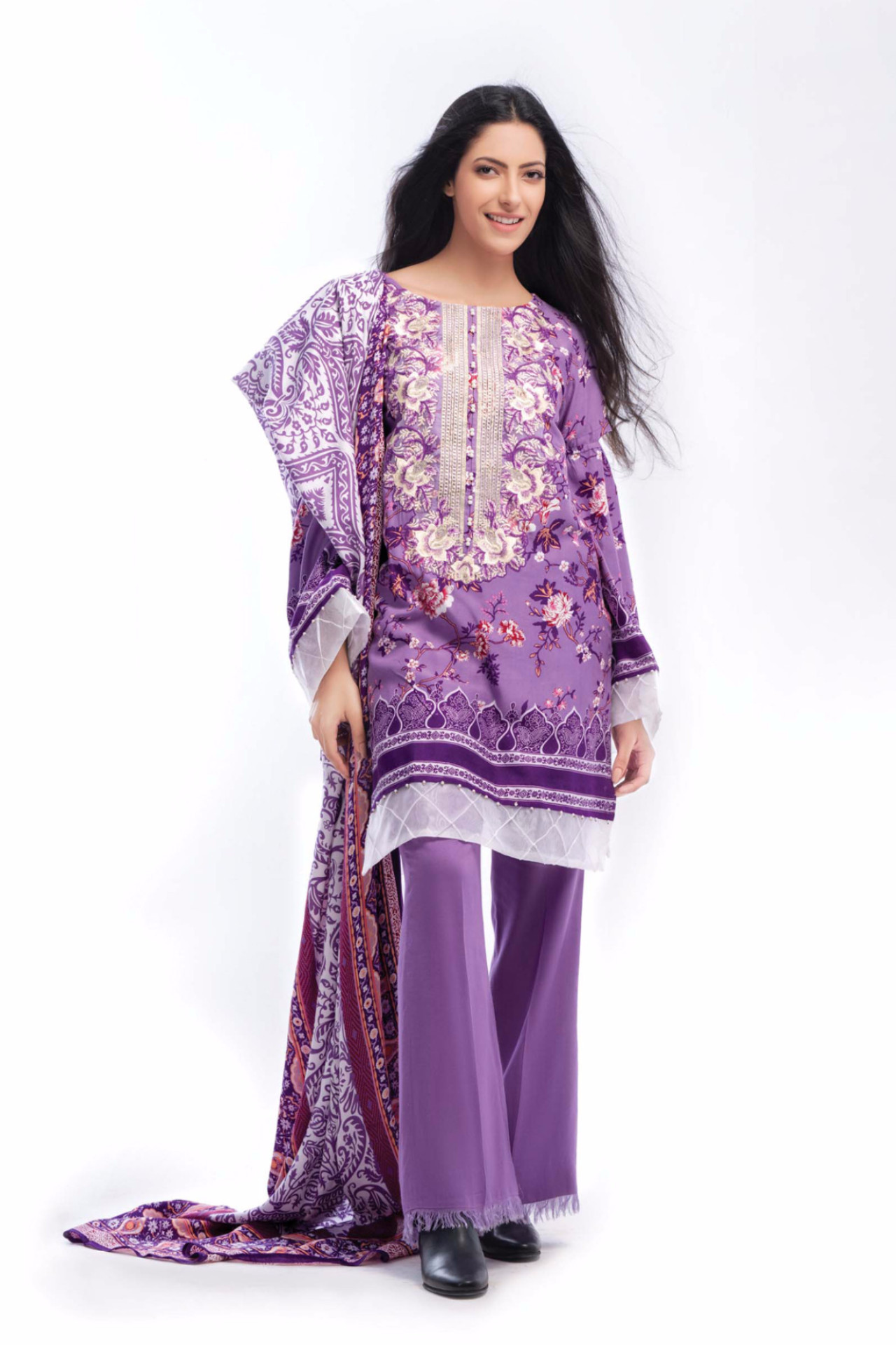 Beautiful purple dress by gul ahmed for fall