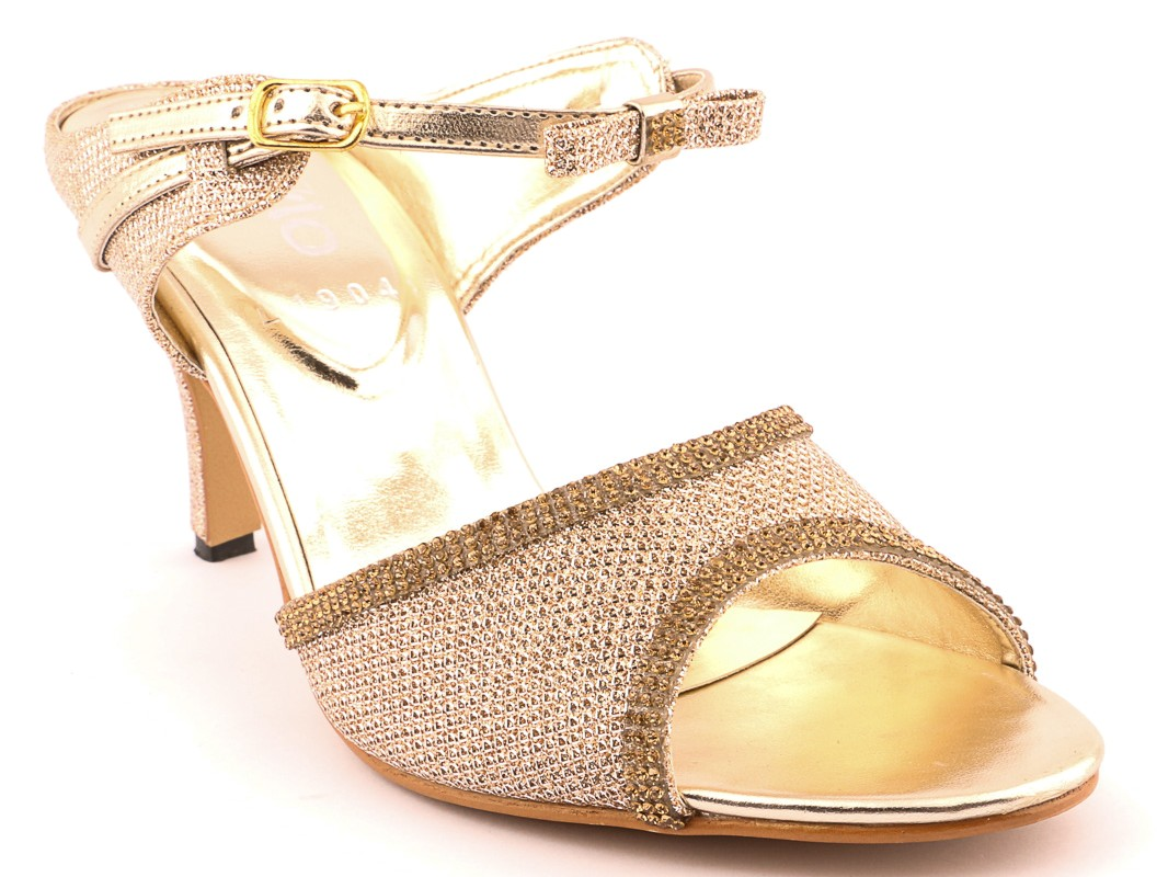 Golden Sandals by stylo for winter