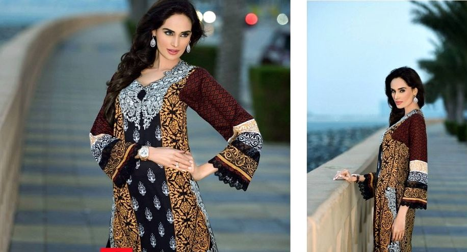 Stylish Black Dress By HSY Ittehad Textiles