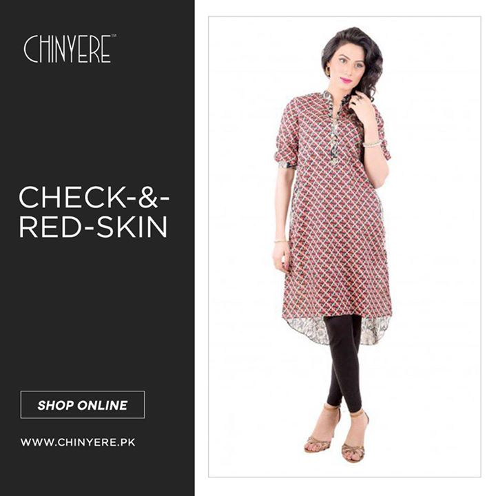 Check & Red skin Frock by Chinyere 2017