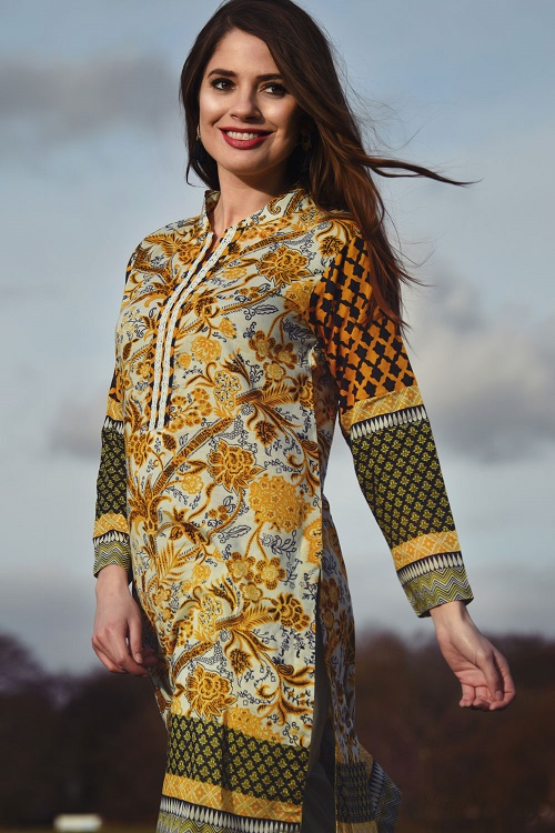 Yellow floral Nimsay summer print