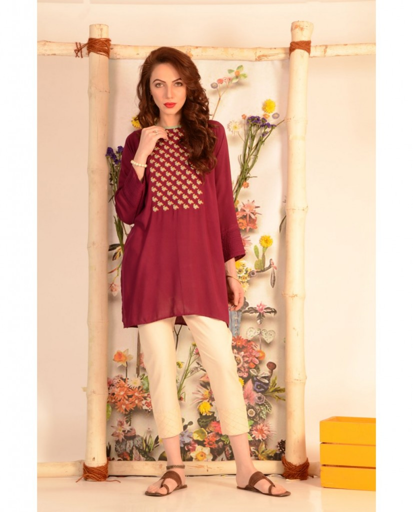 loose cut kurta by ego summer collection 2017