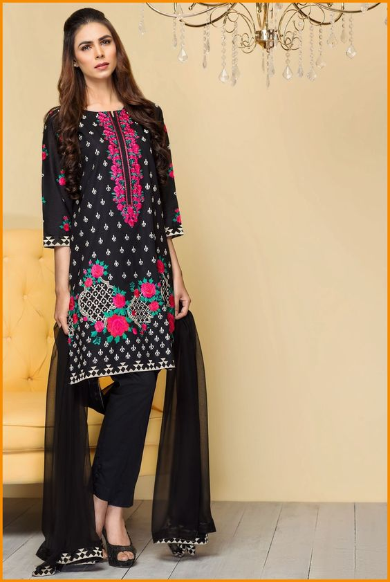 mausummery embroidered lawn 2017