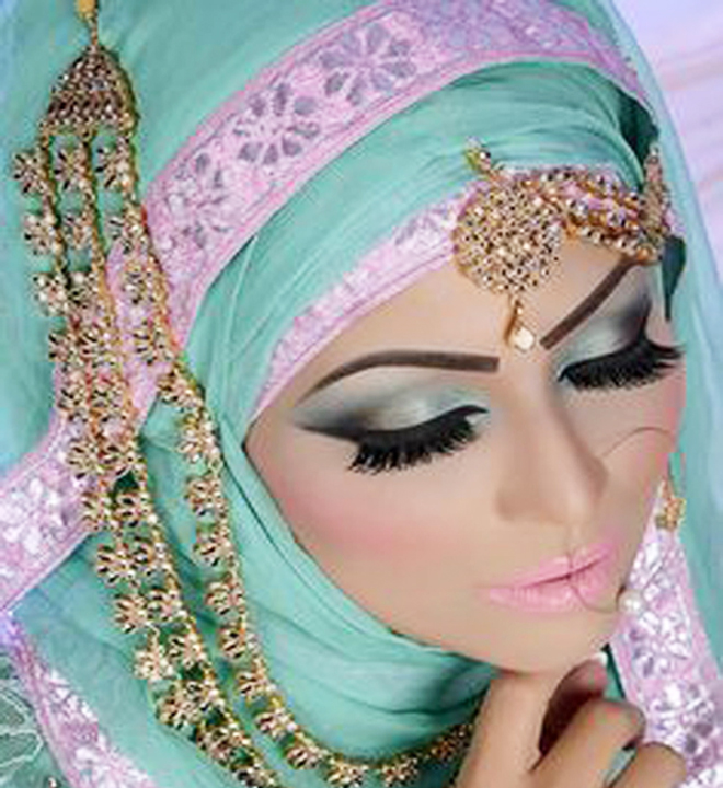 Arabic Hairstyles For Weddings: Arabic Bridal Makeup Tutorial With Steps & Pictures