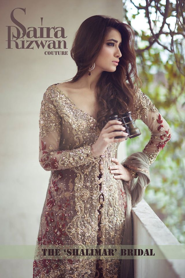 Gorgeous Embroidered Bridal Wear Dresses 2017 By Saira Rizwan