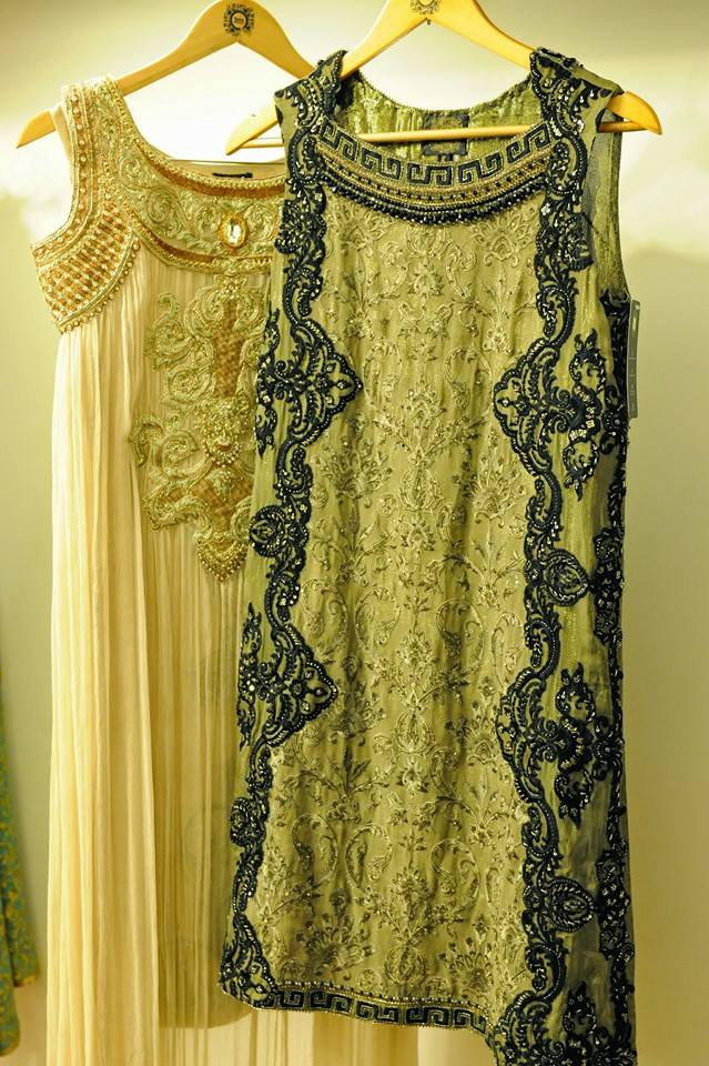 Sleeveless stylish Embroidered Bridal Wear Dresses 2017 By Saira Rizwan