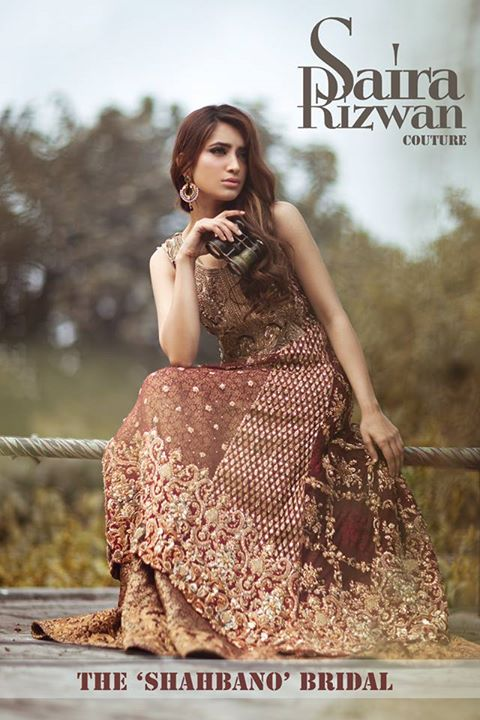 Embroidered Bridal Wear Apparel 2017 By Saira Rizwan