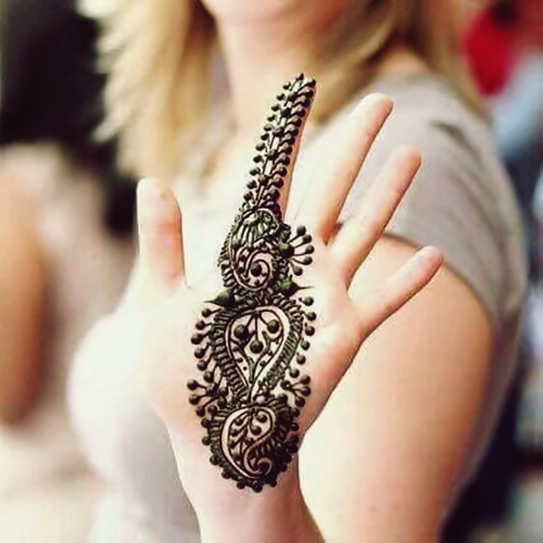 pretty single bail eid mehndi design