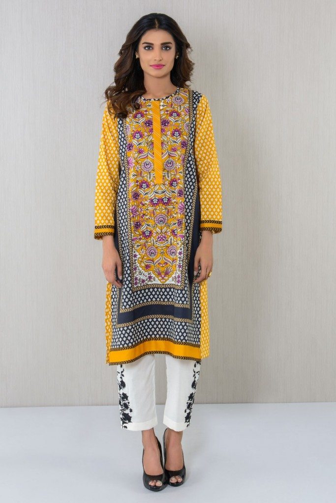 Embroidered Kurta With Pant By Khaadi For Eid 2017