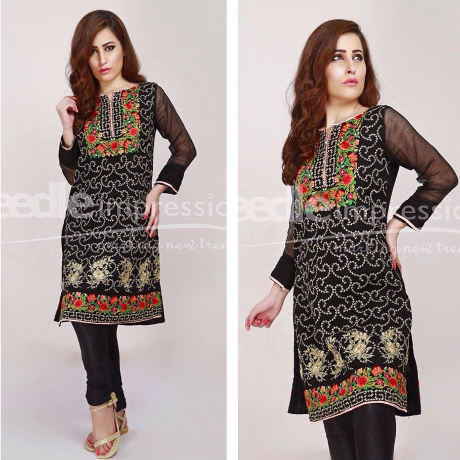 Needle Impressions Enchanting Flowery Embroidery For Eid