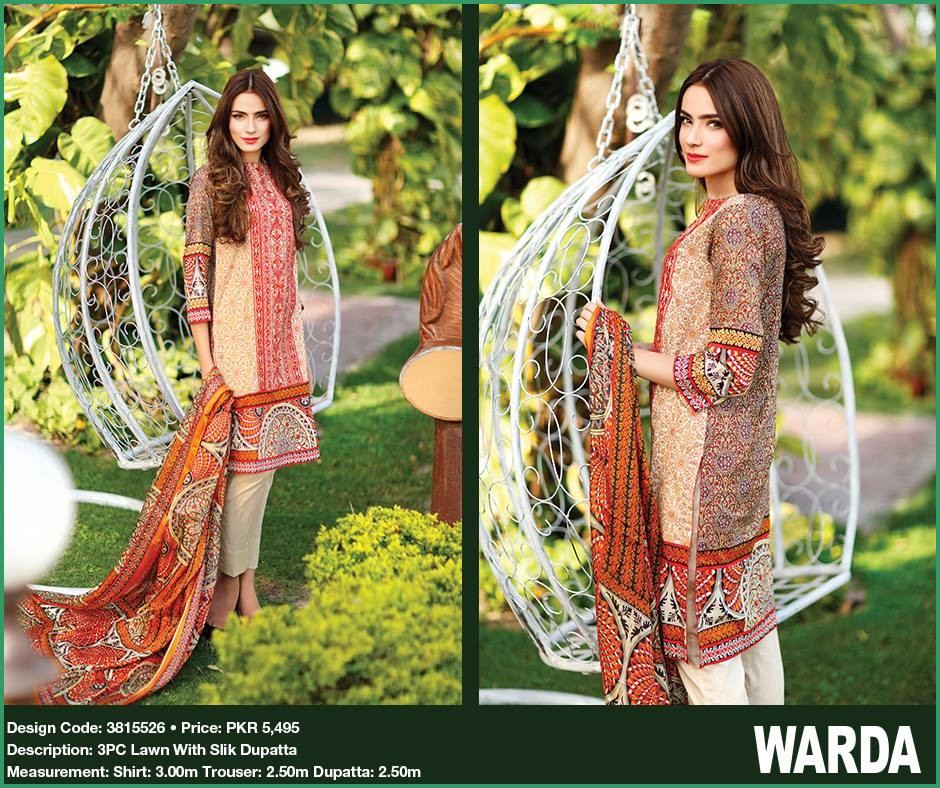 Warda Orange Color Outfit For Eid