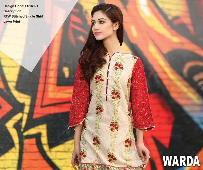 Warda summer pret fawn and red floral shirt