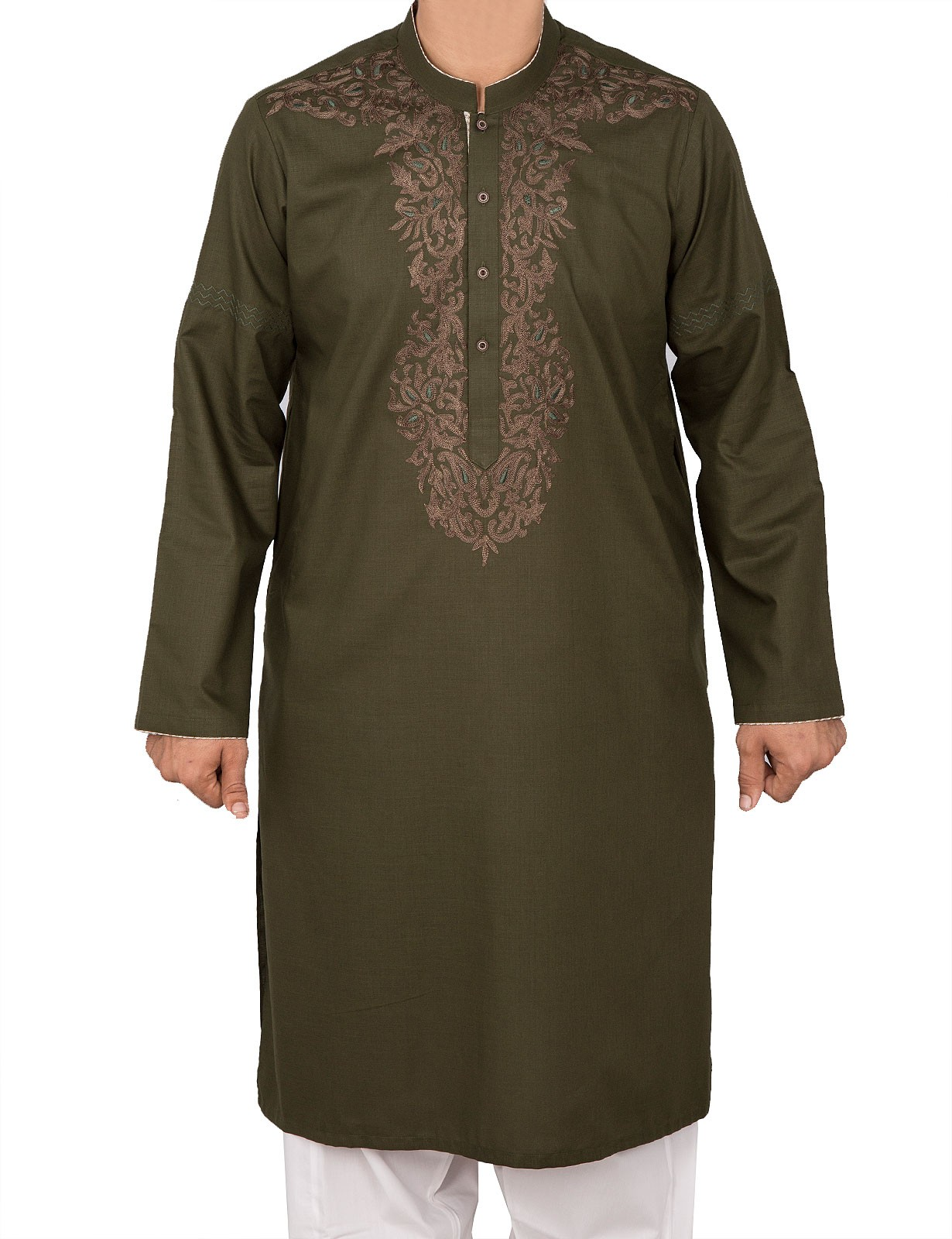Green Color Kurta For Men By Cambridge For Eid