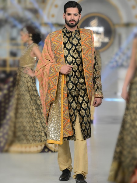 HSY Golden patten sherwani collection