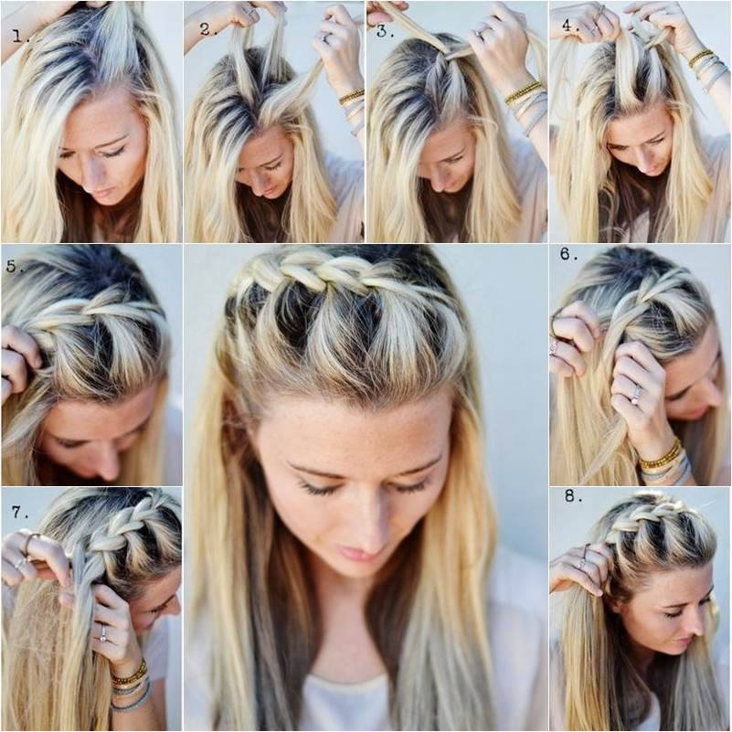Easy Braid Style With Long Hair For Eid