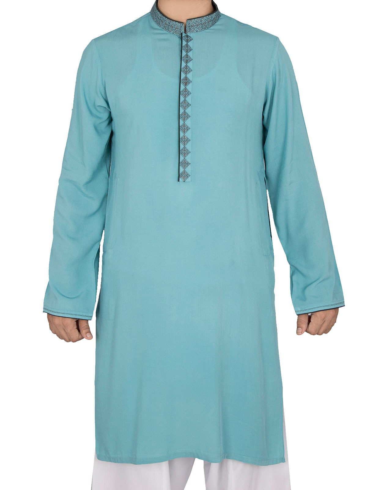 Sea Green Kurta By Cambridge For Eid