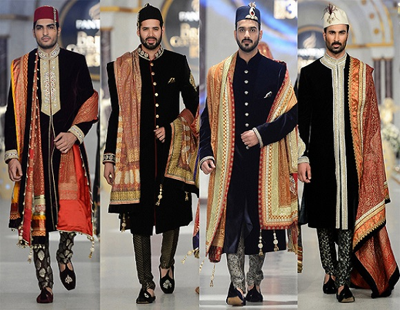 deepak perwani Black Embroidered sherwani collection