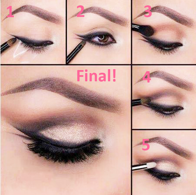 Fishtail Eyeliner Step by Step