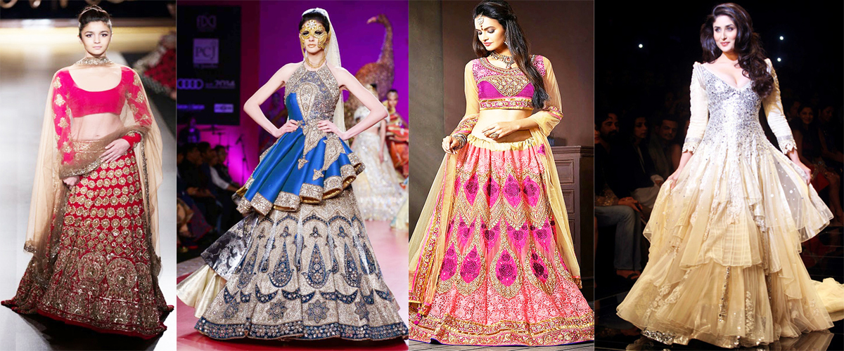 indian bridal wedding lehengas gowns 2018 beststylo com