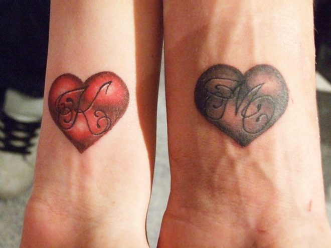 Loving pictures couple matching tattoos 02