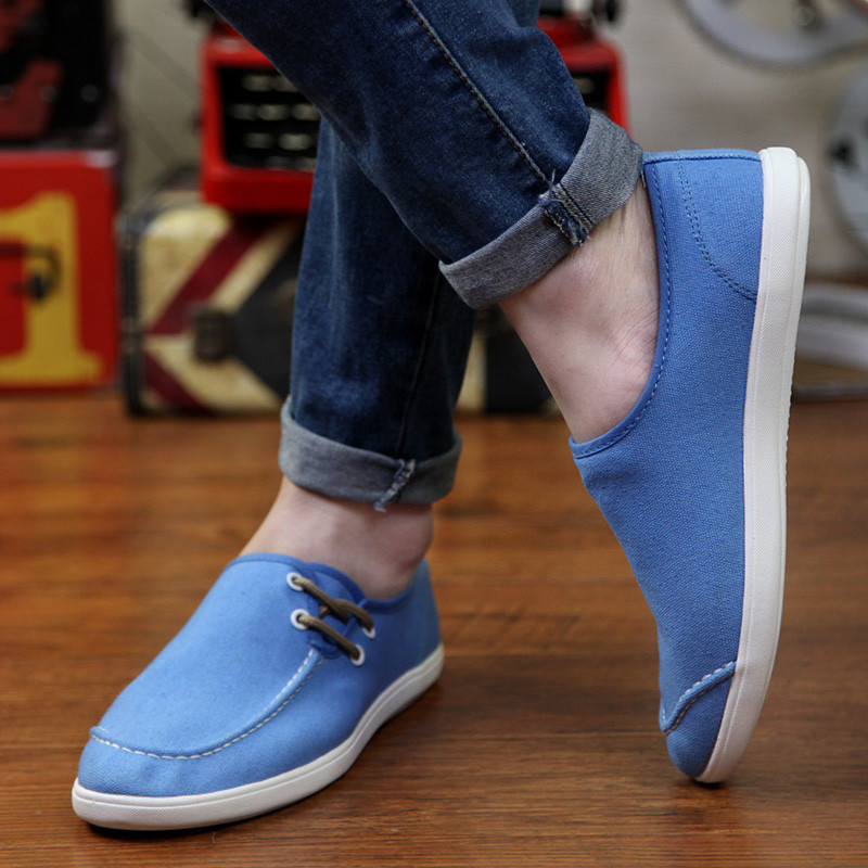 Aqua Blue Slip Ons Casual Shoes for Men