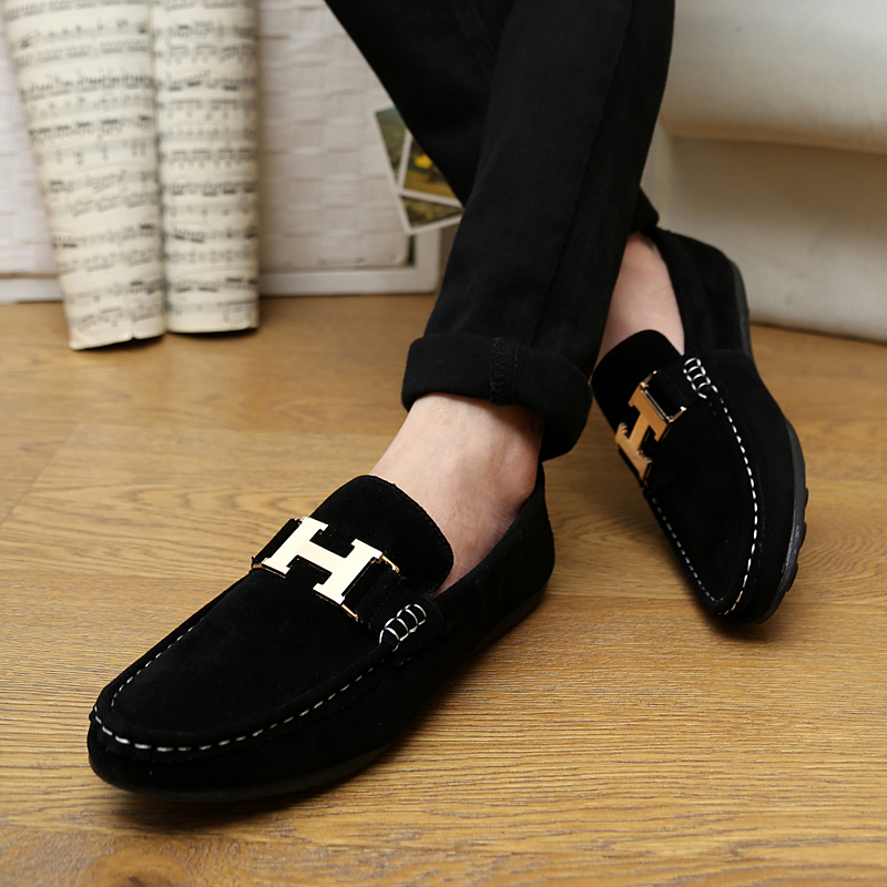 Black Slip Ons Casual Shoes for Men