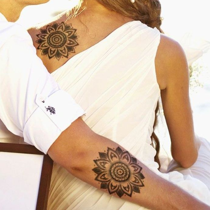 awesome tattoo design ideas for couples matching 07