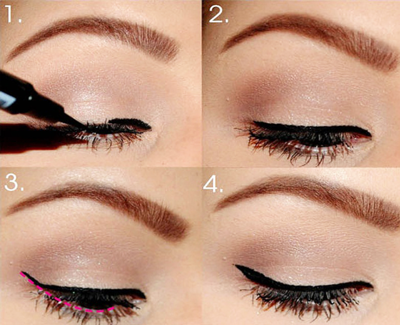 Apply Eyeliner Step by Step