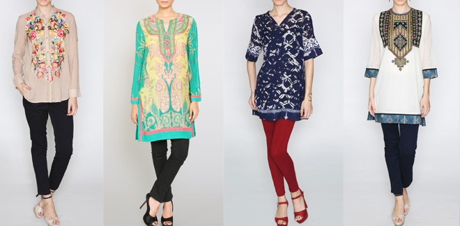 Indian Designer Stylish Tunics and Kurtis Collection 2019 by Ritu Kumar