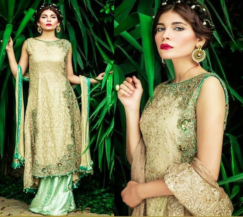 Sea Green Shaded Long shirt Engagement Collection