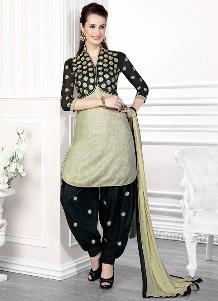 Elegant Black Chic Attire with Patiala Shalwar