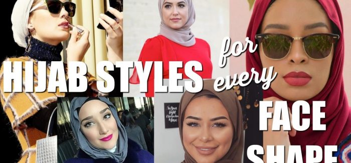 Fashionable Hijab Styles and Designs for Different Face Shape Girls 2017