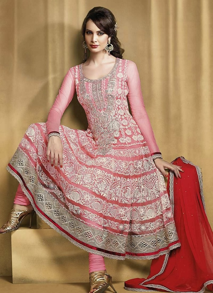 Pink Churidar suit Collection