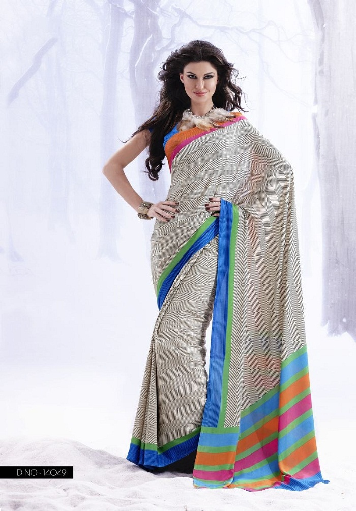 d3d5f26ce64 Latest Fashion Best Party Wear Saree Designs for Pakistani   Indian Women
