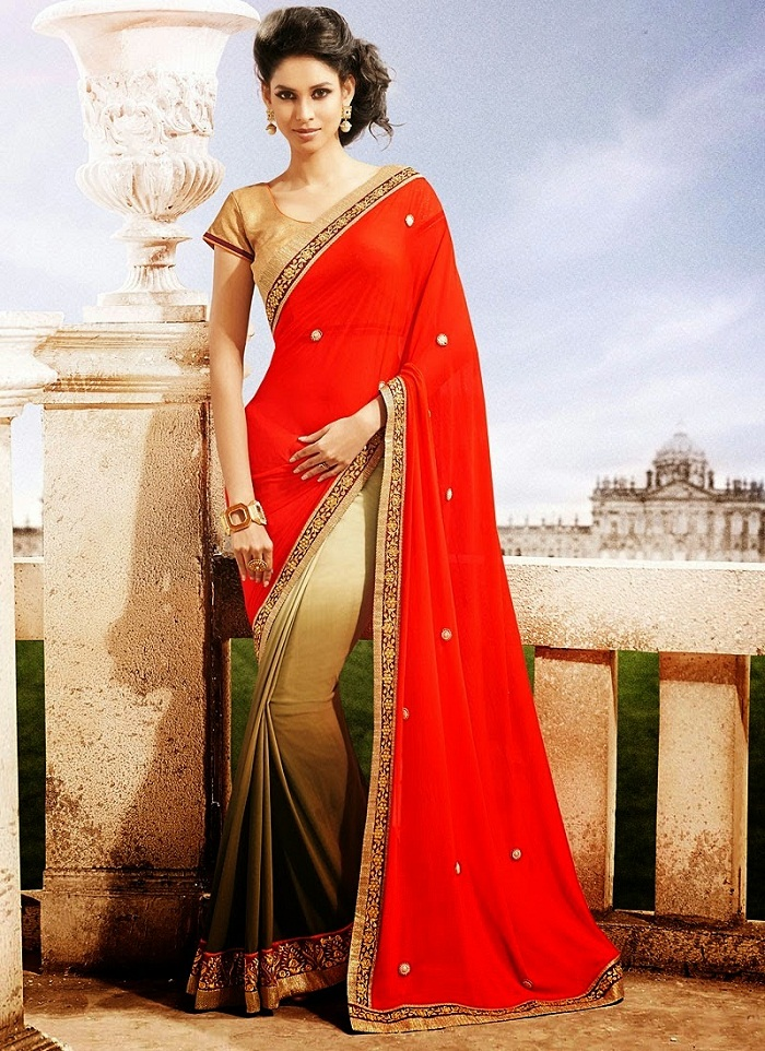 565344ba85 Pakistani and Indian Party Wear Sarees 2019 | BestStylo.com