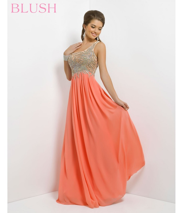 Orange party wear cocktail dresses and gowns